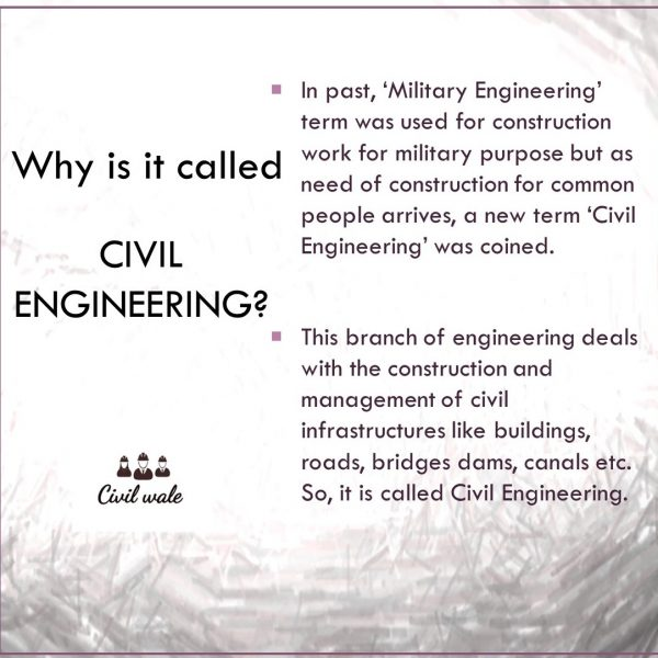 Why is it called Civil Engineering?