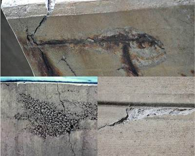 Spalling of concrete
