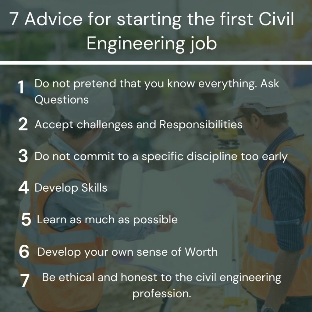 First civil engineering job