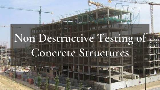 Non destructive tests of concrete