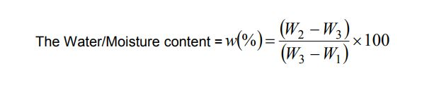 Water content of soil formula