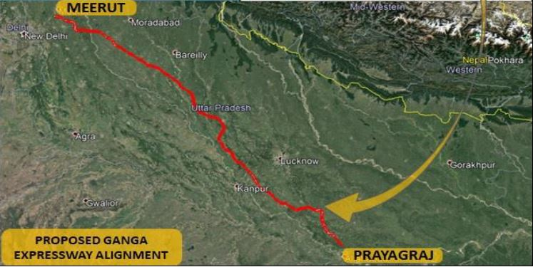 Ganga Expressway Map