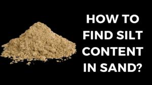 How to find Silt Content in Sand?